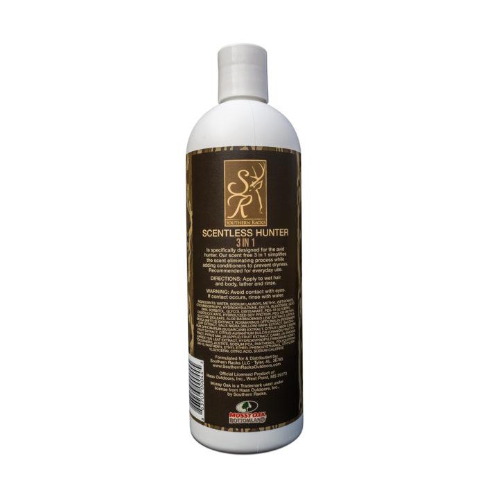 Scentless Hunter 3-in-1 Shampoo, Conditioner & Body Wash