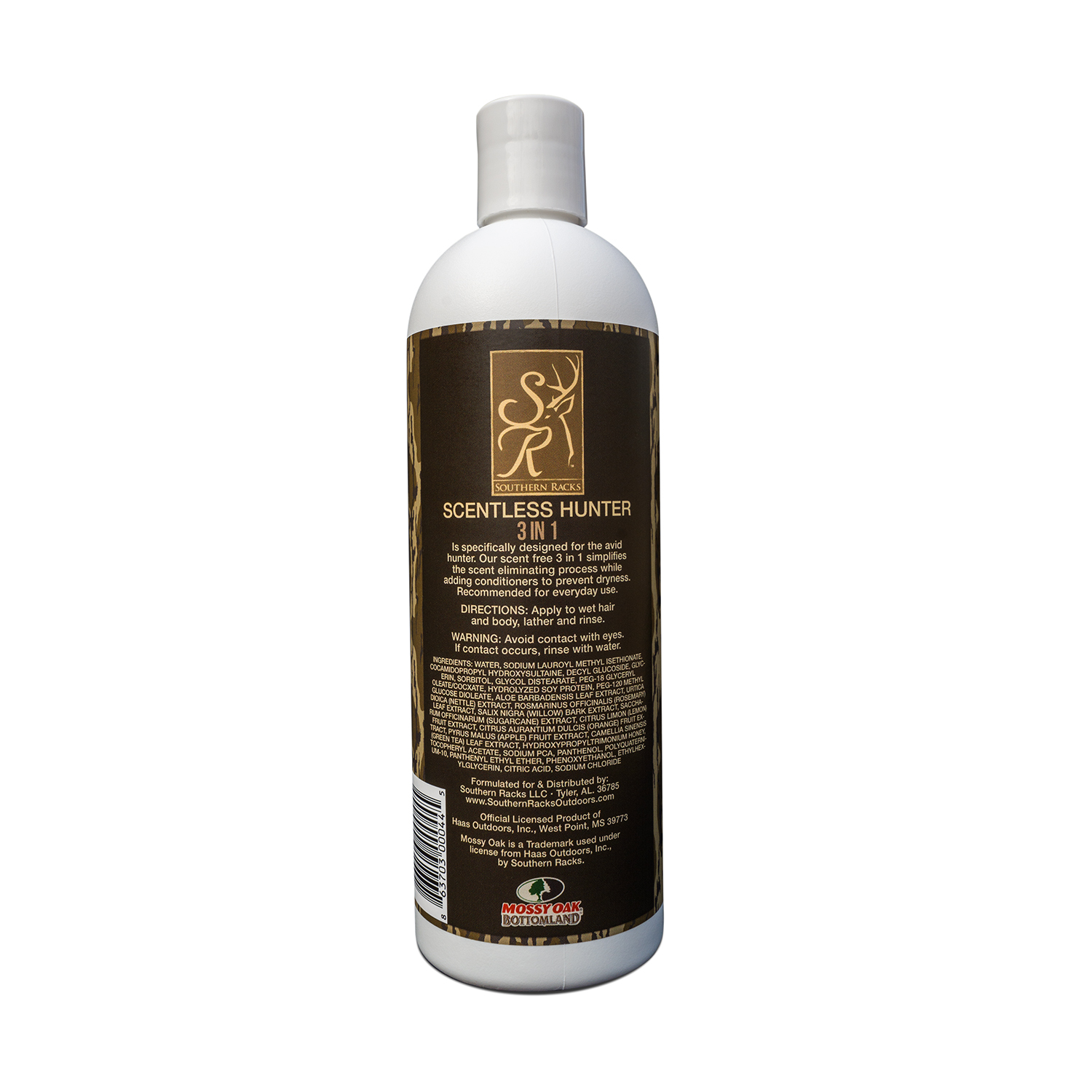 Scentless Hunter 3-in-1 Shampoo, Conditioner & Body Wash